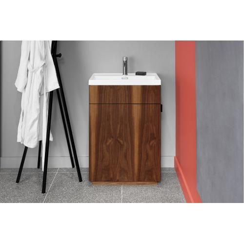 Floor-mount vanity Pedestal