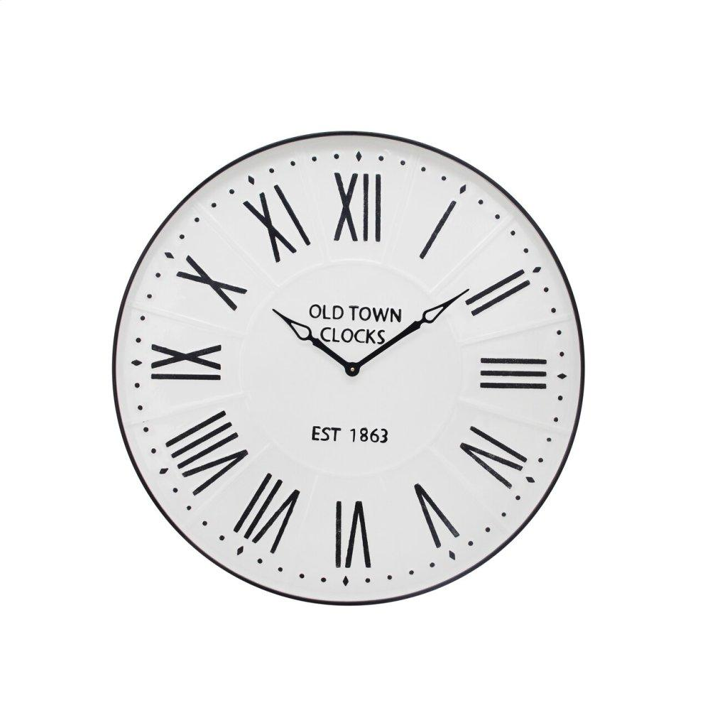 """See Details - Metal Wall Clock 31.5"""" White Wb"""
