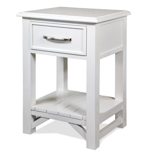 Riverside - Talford Cotton - One Drawer Nightstand - Cotton Finish