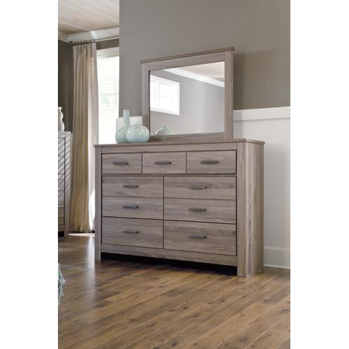 Ashley - Queen/full Panel Headboard With Mirrored Dresser, Chest and 2 Nightstands