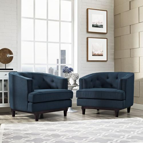 Coast Armchairs Set of 2 in Azure