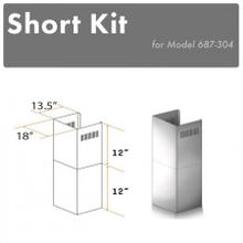 "ZLINE 2-12"" Short Chimney Pieces for 7 ft. to 8 ft. Ceilings (SK-687-304)"