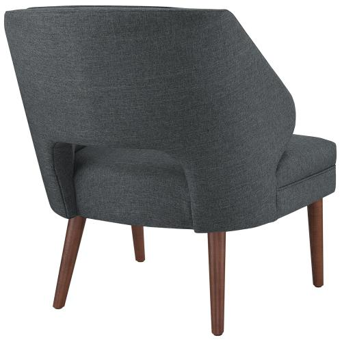 Dock Upholstered Fabric Armchair in Gray