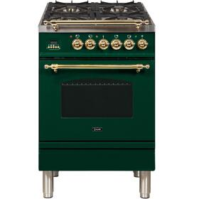 "24"" Inch Emerald Green Liquid Propane Freestanding Range"