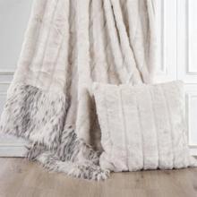White Faux Mink U0026 Snow Leopard Oversized Throw Blanket