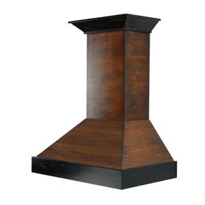 ZLINE Ducted Wooden Wall Mount Range Hood in Antigua and Walnut with Remote Motor (KBAR-RD) [Size: 30 Inch] -