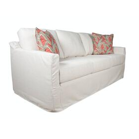 Track Arm, Standard Depth, Three Cushion, Queen Slipcover Sofa.