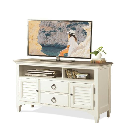 Riverside - Myra - 54-inch TV Console - Natural/paperwhite Finish
