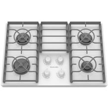 "KitchenAid 30"" 4 Burner Gas Cooktop, Architect Series II in White/ New In Box / Linthicum, Md / CNTR1116 / ID:431614"