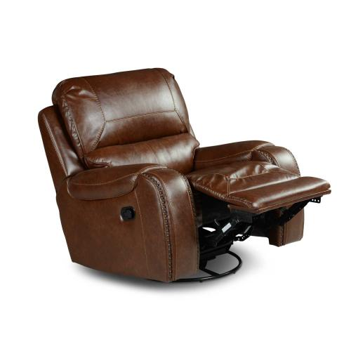 Keily Manual Swivel Glider Recliner, Brown