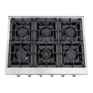 Thor Kitchen - Professional 36 Inch 6 Burner Rangetop In Stainless Steel