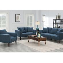 Percy Blue Sofa, Loveseat & Chair, U5311