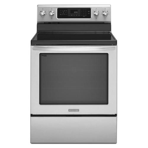KitchenAid® 30-Inch 5-Element Electric Freestanding Range, Architect® Series II - White