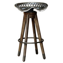 See Details - Swivel Antique Tractor Seat Barstool