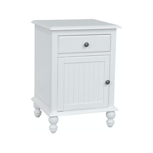 1 Drawer / 1-Door Nightstand in Beach White