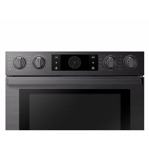 "30"" Flex Duo™ Chef Collection Double Wall Oven in Matte Black Stainless Steel"