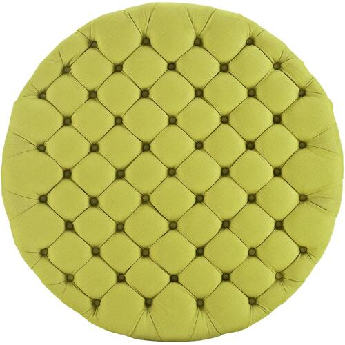 Modway - Amour Upholstered Fabric Ottoman in Wheatgrass