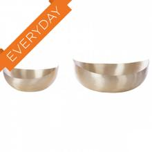 Brushed Gold Taper Bowls