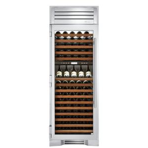 True Residential30 Inch Dual Zone Stainless Glass Door Left Hinge Wine Column