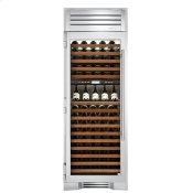 30 Inch Dual Zone Stainless Glass Door Left Hinge Wine Column