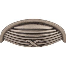 View Product - Ribbon & Reed Cup Pull 3 Inch (c-c) Pewter Antique