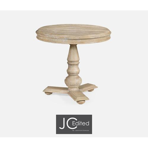 """32"""" Centre Table in Limed Acacia"""