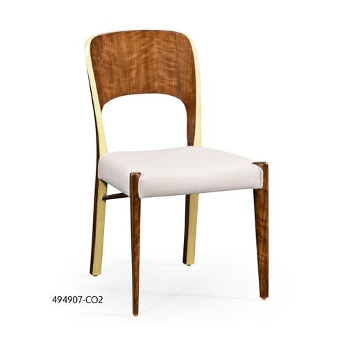 Hyedua and celadon finish side chair