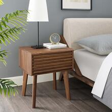 See Details - Render End Table Nightstand in Walnut