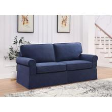 Ashton Slipcover Sofa Cottage Style In Navy Fabric