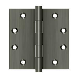 """Deltana - 4-1/2"""" x 4-1/2"""" Square Hinges - Antique Nickel"""