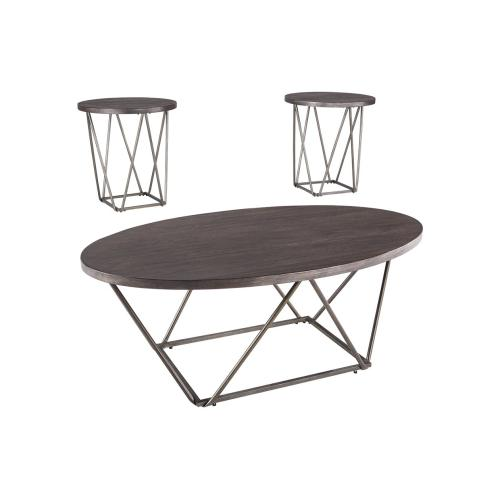 Signature Design By Ashley - 3 Piece Set (Coffee Table and 2 End Tables)