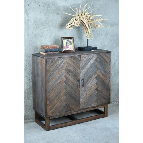 Herringbone Cabinet - Raftwood Brown