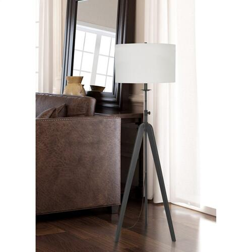 150W 3 Way Pratt Metal Tripod Floor Lamp With Adjustable Height