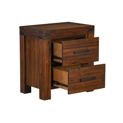 Arbor Two Drawer Nightstand, Brown