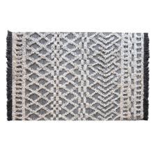 Heino I 120 x 96 Gray/White Fringe Detail Rug