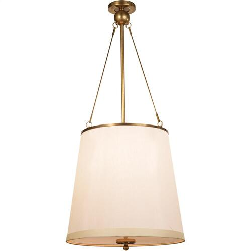 Visual Comfort BBL5023SB-S Barbara Barry Westport 3 Light 18 inch Soft Brass Hanging Shade Ceiling Light