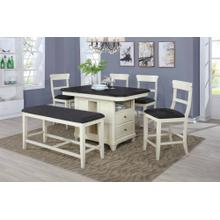 7899 6PC Two-Tone Counter Height SET