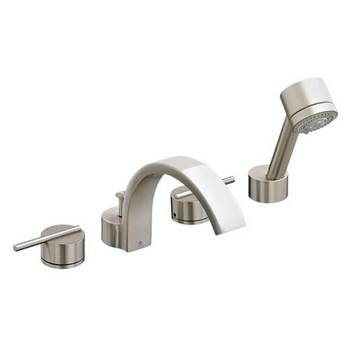 Rem Water Saving Deck Mount Bathtub Faucet with Hand Shower - Brushed Nickel