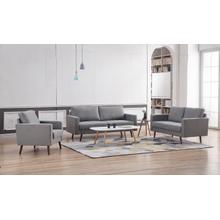 See Details - 8122 3PC LIGHT GRAY Linen Stationary Basic Living Room SET
