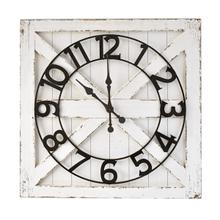 Layered Shiplap Wall Clock