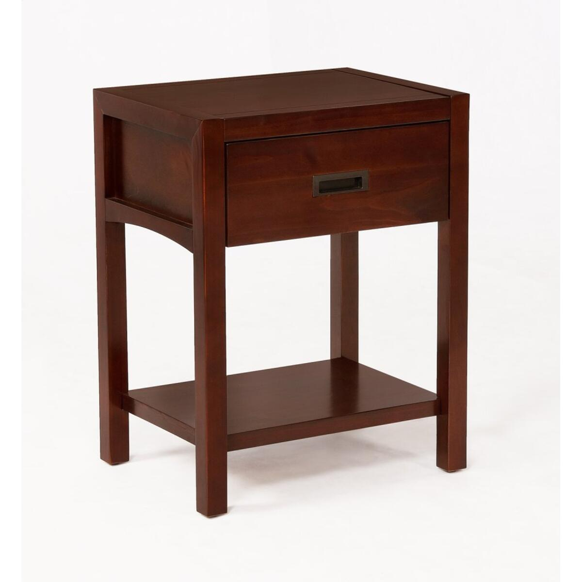Reisa Solid Wood Night Stand - Espresso Brown