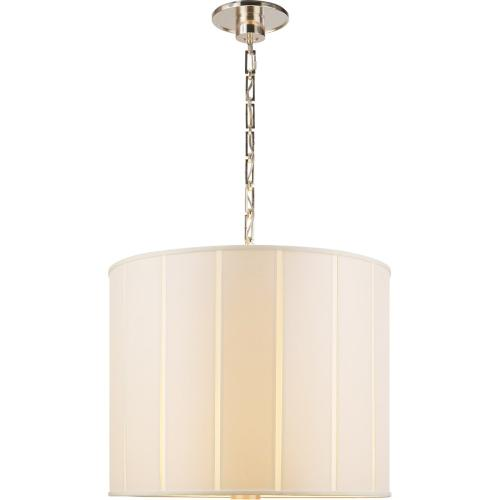 Visual Comfort BBL5032SS-S Barbara Barry Perfect Pleat 2 Light 23 inch Soft Silver Hanging Shade Ceiling Light