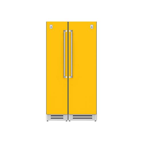 "Hestan - 42"" Column Freezer (L) and Refrigerator ® Ensemble Refrigeration Suite - Sol"