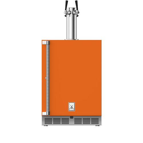 """Hestan - 24"""" Hestan Undercounter Double Faucet Beer Dispenser - GFDS Series - Citra"""