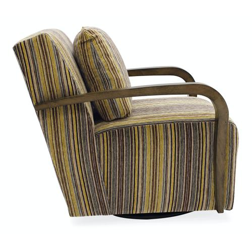 Living Room Corley Exposed Wood Swivel Chair