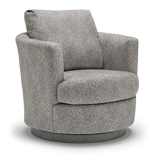 Best Home Furnishings - TINA Swivel Barrel Chair