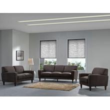 Evan Chocolate Sofa, Loveseat & Chair, SWU8130