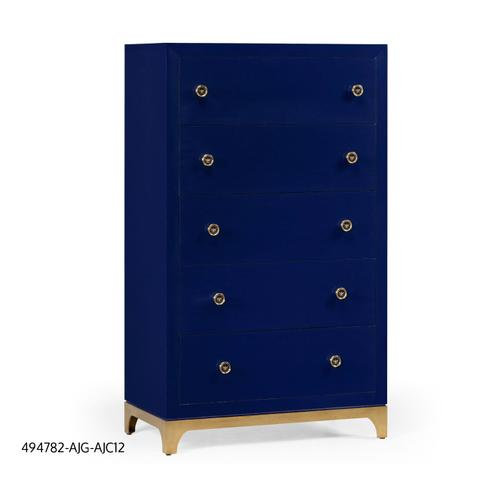 Tall chest with blazer buttons (Royal Navy/Gold)