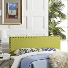 Phoebe King Upholstered Fabric Headboard in Wheatgrass