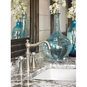 Weymouth chrome two-handle bathroom faucet